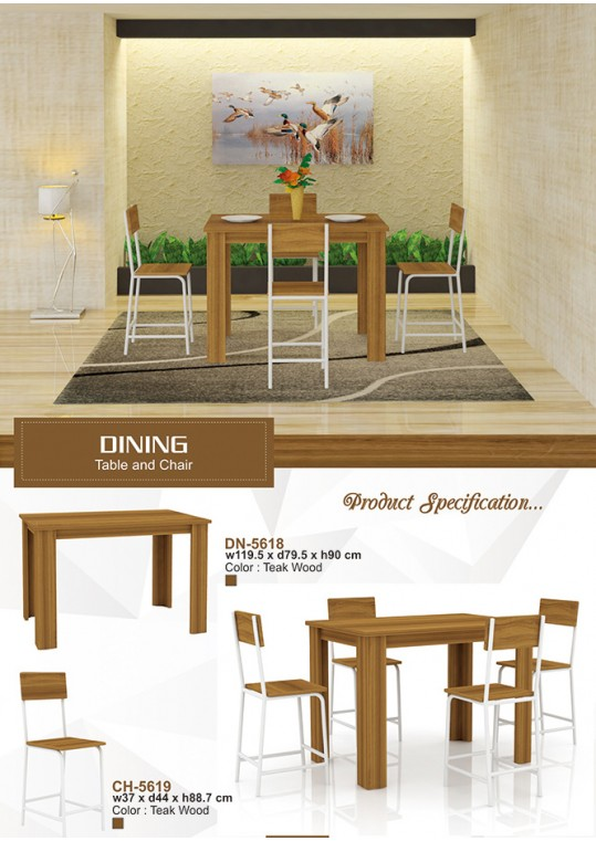 Dining Table and Chair Set Teakwood