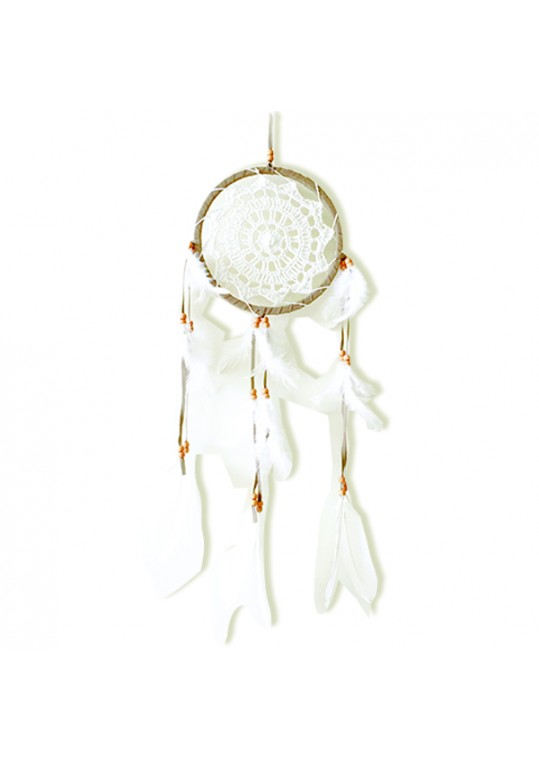 Prissilia Dream Catcher - Medium Brown White